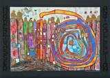 WHO HAS EATEN ALL MY WINDOWS , 1966 Láminas por Friedensreich Hundertwasser