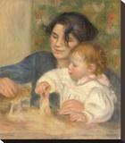 Gabrielle et Jean, 1895-1896 Stretched Canvas Print by Pierre-Auguste Renoir