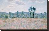 Poppy Field, 1890 Trykk på strukket lerret av Claude Monet