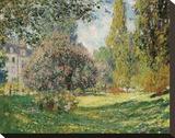 Parc Monceau, 1876 Stretched Canvas Print by Claude Monet
