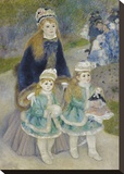 Mother and Children (La Promenade), from 1874 until 1876 Stretched Canvas Print by Pierre-Auguste Renoir