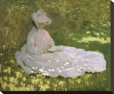 Springtime, 1872 Stretched Canvas Print by Claude Monet