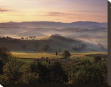 Dawn Mist Rising Stretched Canvas Print by Michael Hudson