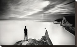 The Man and the Sea, Study 4 Stretched Canvas Print by Marcin Stawiarz