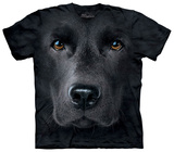 Black Lab Face Magliette