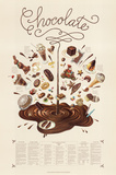 Chocolate Educational Food Poster Poster di Naomi Weissman