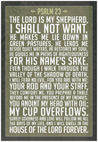 Psalm 23 Prayer Art Print Poster Plakater