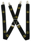 DC Comics - Batman Shield Black/Yellow Suspenders Produtos divertidos