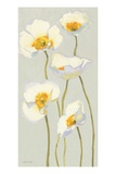 White on White Poppies Panel II Premium Giclee Print by Shirley Novak