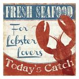 Fresh Seafood I Premium Giclée-tryk af  Pela