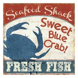 Fresh Seafood II Lámina giclée prémium por  Pela Design