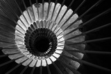 Looking Down the Spiral Staircase in the Tower of Ljubljana Castle Photographic Print by Jonathan Irish