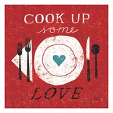 Cook Up Love Premium Giclee-trykk av Michael Mullan