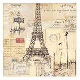 Paris Collage II Premium gicléedruk van  Pela Design