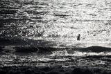 A Surfer Sits Alone Out in the Waves Fotografisk trykk av Ben Horton