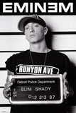 Eminem op foto voor politiedossier, Slim Shady Poster