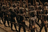 Wooden Nubian Archers from Tomb of Mesehti Fotografisk tryk af Kenneth Garrett