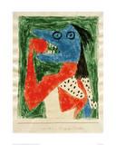 Hungry Girl Giclee-trykk av Paul Klee