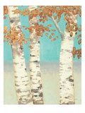 Golden Birches II Reproduction giclée Premium par James Wiens