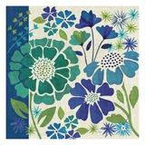 Blue Garden I Impressão giclée premium por Veronique Charron