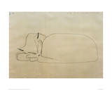 Sleeping Cat Giclee-trykk av Paul Klee