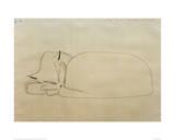 Schlafende Katze Giclée-Druck von Paul Klee