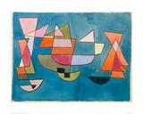 Seilende båter Giclee-trykk av Paul Klee
