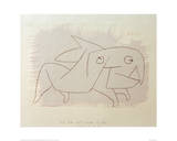 Animal Soon to be Merry Again Giclée-tryk af Paul Klee