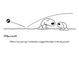 """""""When I was your age I would have snagged that before it hit the ground."""" - New Yorker Cartoon Premium Giclee Print by Charles Barsotti"""