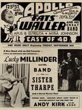 Apollo Theatre  Handbill: Fats Waller, Lucky Millinder, Sister Tharpe Prints