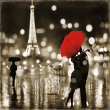 A Paris Kiss Poster von Kate Carrigan