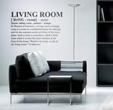 Definition Living Room - Medium Autocollant mural