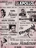 Apollo Theatre: Earl Hines, Louis Armstrong, Ella Fitzgerald, Fletcher Henderson and More Giclée-Premiumdruck