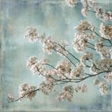 Aqua Blossoms I Posters por John Seba