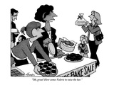 """""""Oh, great! Here comes Valerie to raise the bar."""" - New Yorker Cartoon Premium Giclee Print by William Haefeli"""