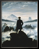 Vandrer over tåkehav, ca. 1818 Posters av Caspar David Friedrich