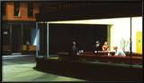 Yökyöpelit, n. 1942 Taide tekijänä Edward Hopper