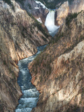Lower Yellowstone Falls Is the Largest Falls in What Is Considered the Grand Canyon of Yellowstone. Photographic Print by Brad Beck