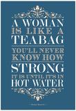 Strong Woman Eleanor Roosevelt Quote Poster Kunstdrucke