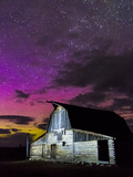 Northern Lights Above Moulton Barn Impressão em tela esticada por Mike Cavaroc
