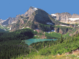 Grinnel Lake Below Mt Gould in Glacier National Park, Montana Photographic Print by Howard Newcomb