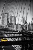Taxi Cabs - Brooklyn Bridge - Yellow Cabs - Manhattan - New York City - United States Premium fototryk af Philippe Hugonnard