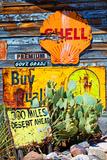 Route 66 - advertising - Arizona - United States Trykk på strukket lerret av Philippe Hugonnard