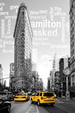 Flatiron Building - Taxi Cabs Yellow - Manhattan - New York City - United States Fotoprint van Philippe Hugonnard