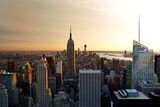 Sunset At Manhattan - Empire State Building - Art Modern Reproduction photographique par Philippe Hugonnard