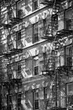 Bygningsfacade fra New York Fotografisk tryk af Philippe Hugonnard