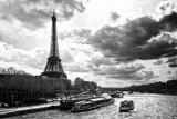 Tour Eiffel, La Seine, Paris III Reproduction photographique par Philippe Hugonnard