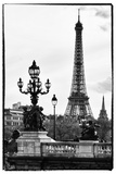 Romantic Eiffel Tower - Paris Stretched Canvas Print by Philippe Hugonnard