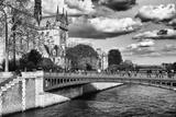 Double Pont Bridge - Notre Dame Cathedral - Paris - France Photographic Print by Philippe Hugonnard