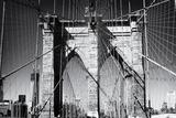 Details Brooklyn Bridge - Manhattan - New York - United States Photographic Print by Philippe Hugonnard